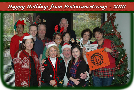 happy holidays from ProSuranceGroup Inc.